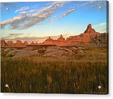 Badlands Evening Glow Acrylic Print