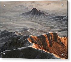 Badlands Fog Acrylic Print