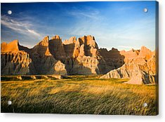 Acrylic Print featuring the photograph Badlands In Late Afternoon by Rikk Flohr