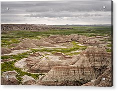 Acrylic Print featuring the photograph Badlands by John Gilbert