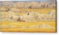 Acrylic Print featuring the photograph Badlands Mystique by Al Swasey