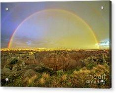 Badlands Rainbow Promise Acrylic Print