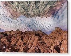 Badlands Reflection.... Acrylic Print