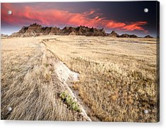 Badlands Sunset Acrylic Print by Eric Foltz