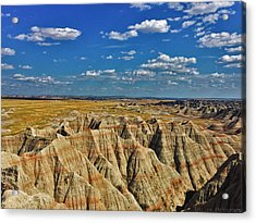 Badlands To Plains Acrylic Print
