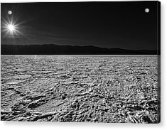 Badwater Acrylic Print by Peter Tellone