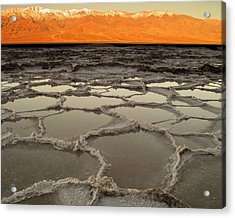 Badwater Sunrise-death Valley Acrylic Print