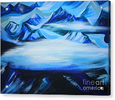 Acrylic Print featuring the painting Baffin Island by Anna  Duyunova