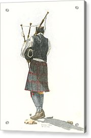 Bag Piper On A Maine Beach Acrylic Print