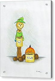 Baggs And Boo Treat Or Trick Acrylic Print