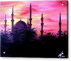 Baghdad Sunset Acrylic Print by Michael McKenzie