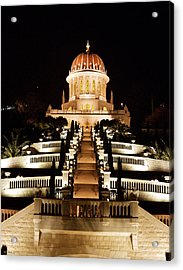 Acrylic Print featuring the photograph Bahai Shrine by Arik Baltinester