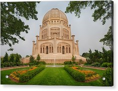 Acrylic Print featuring the photograph Baha'i Temple - Wilmette - Illinois by Photography  By Sai