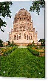 Acrylic Print featuring the photograph Baha'i Temple - Wilmette - Illinois - Veritcal by Photography  By Sai