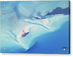 Bahama Banks Aerial Seascape Acrylic Print by Roupen  Baker