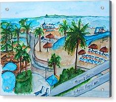 Bahamas Balcony Acrylic Print by Elaine Duras