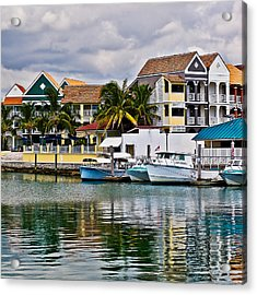 Bahamian Color Acrylic Print by Ron Dubin