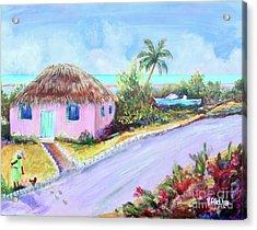 Bahamian Island Shack Acrylic Print