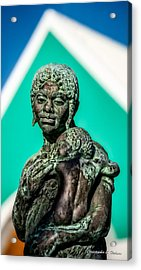 Bahamian Mother And Child Acrylic Print by Christopher Holmes