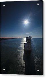 Bahia Honda By The Moonlight Acrylic Print by Dan Vidal
