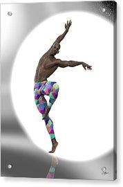 Bailarin Con Foco Acrylic Print by Joaquin Abella