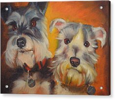 Bailey And Casey Acrylic Print