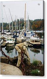 Acrylic Print featuring the photograph Bainbridge Harbor by Bruce Bley