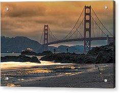Baker Beach Golden Gate Acrylic Print