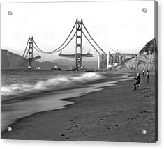 Baker Beach In Sf Acrylic Print by Underwood Archives