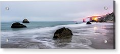 Baker Beach Obscured Acrylic Print by Jon Glaser
