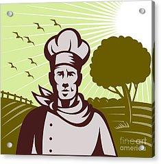 Baker Chef  Acrylic Print by Aloysius Patrimonio
