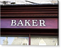 Baker Shop Acrylic Print by Tom Gowanlock
