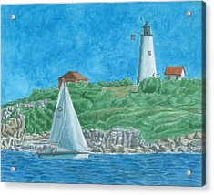 Bakers Island Lighthouse Acrylic Print by Dominic White