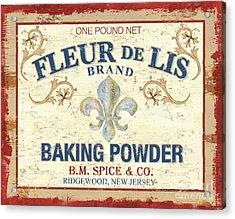 Baking Powder Fleur De Lis Acrylic Print by Debbie DeWitt