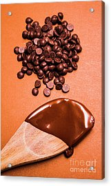 Baking Scene Of Spoon Covered With Chocolate Acrylic Print by Jorgo Photography - Wall Art Gallery