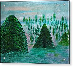 Bakingsoda-vinegar-acrylic-ink And Canvas Acrylic Print