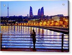 Acrylic Print featuring the photograph Baku Pier by Fabrizio Troiani