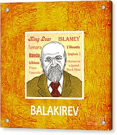Balakirev Acrylic Print by Paul Helm