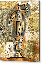 Acrylic Print featuring the painting Balance by Leon Zernitsky