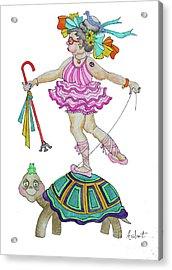 Balance Acrylic Print by Rosemary Aubut