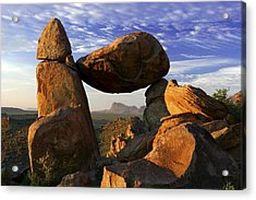 Balanced Rock Acrylic Print by Eric Foltz