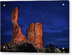 Balanced Rock Light Painted Acrylic Print