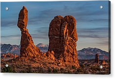 Balanced Rock Sunset Acrylic Print