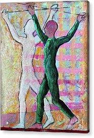 Acrylic Print featuring the painting Balancing Joy by Priti Lathia