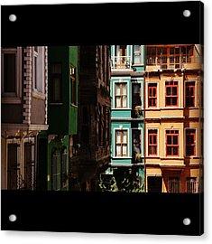#balat #istanbul #eskibinalar #renkli Acrylic Print