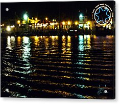 Balboa Night Acrylic Print by S Lynn Lehman