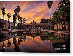 Balboa Park Botanical Building Sunset Acrylic Print
