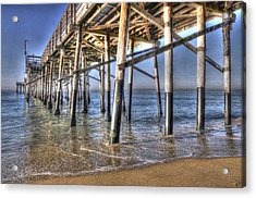 Balboa Pier Pylons Acrylic Print