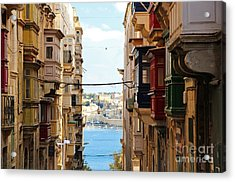 Balconies Of Valletta 2 Acrylic Print by Jasna Buncic