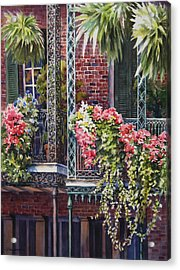 Balcony Gardens Acrylic Print by Sue Zimmermann